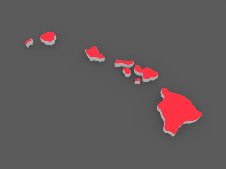 3d hawaii map